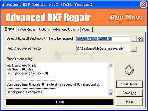 Pantallazo Advanced BKF Repair