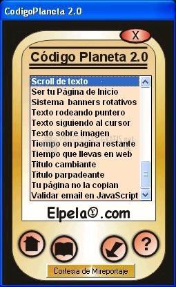 Pantallazo CodigoPlaneta