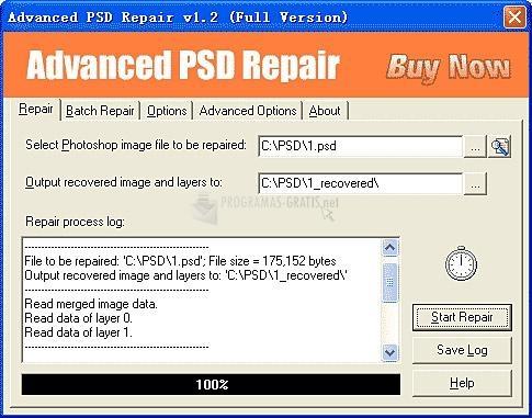 Pantallazo Advanced PSD Repair