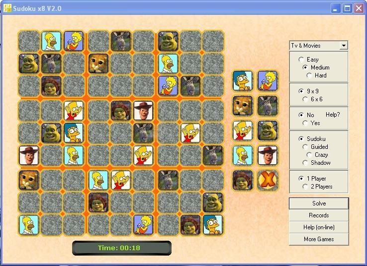 Pantallazo Sudoku x8