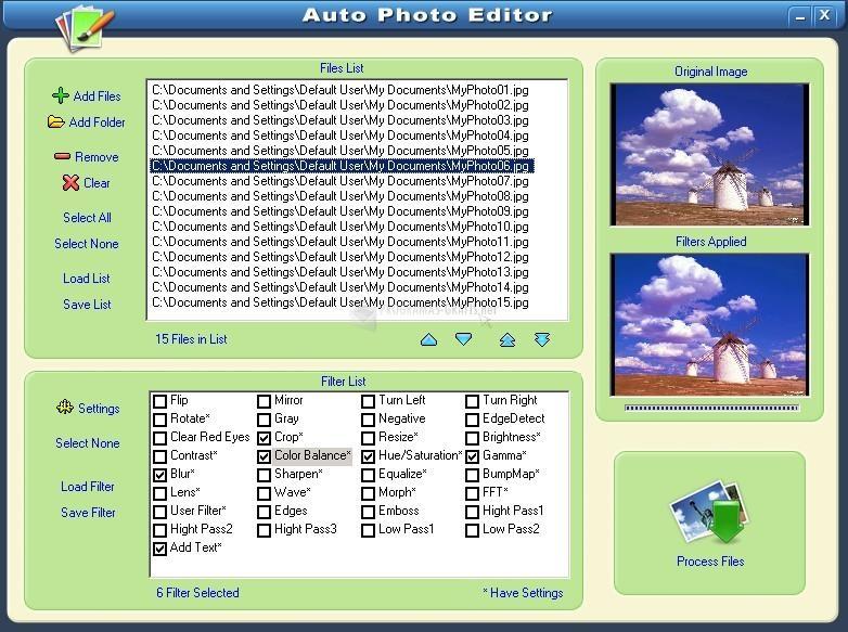 Pantallazo Auto Photo Editor
