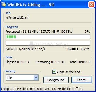 Screenshot WinUHA