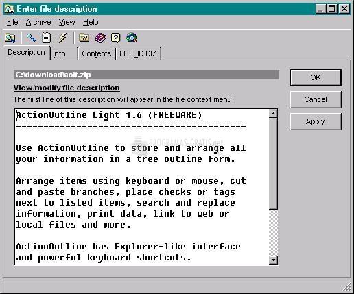 Pantallazo 1st File Descriptor Pro