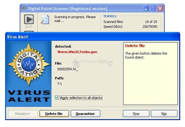 Pantallazo Digital Patrol Scanner