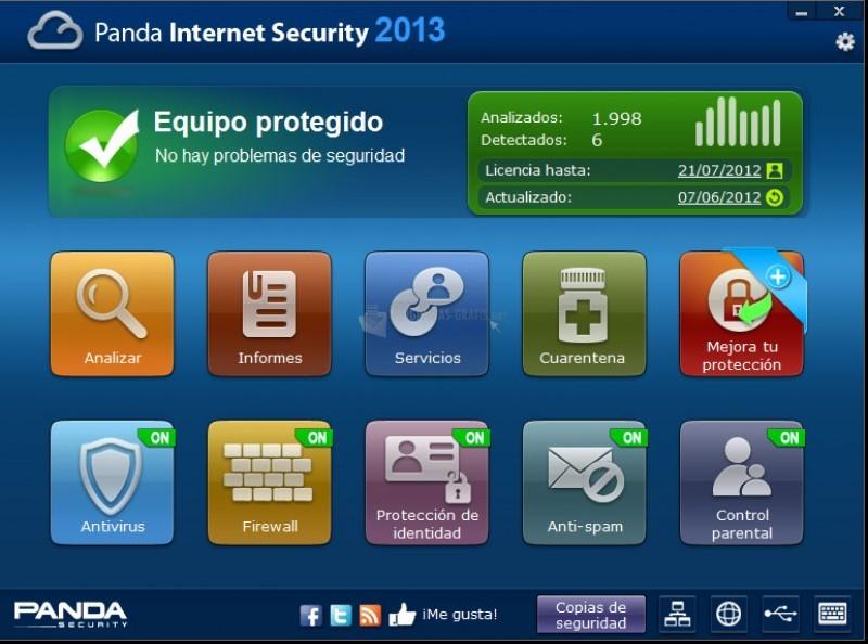 Pantallazo Panda Internet Security