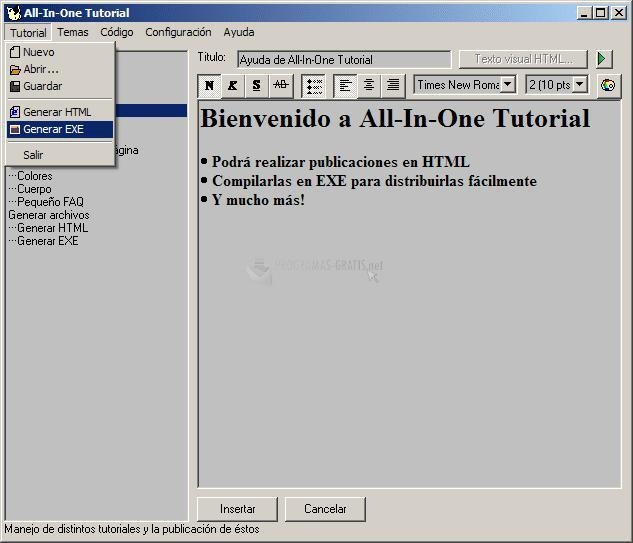 Pantallazo All-In-One Tutorial