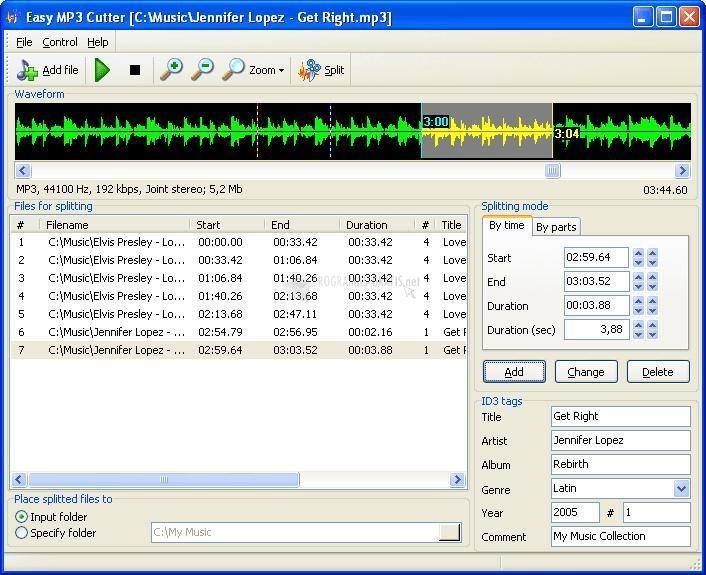 Pantallazo Easy MP3 Cutter