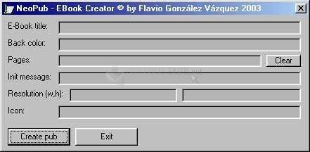 Pantallazo E-Book Creator