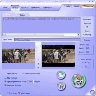 Pantallazo Cucusoft AVI to DVD
