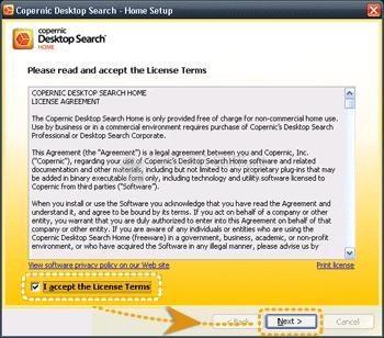 Pantallazo Copernic Desktop Search