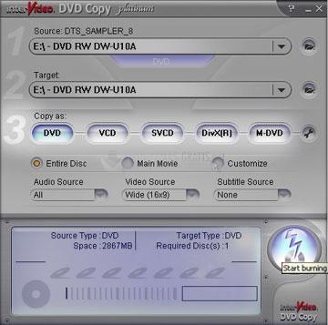 Pantallazo InterVideo DVD Copy Gold