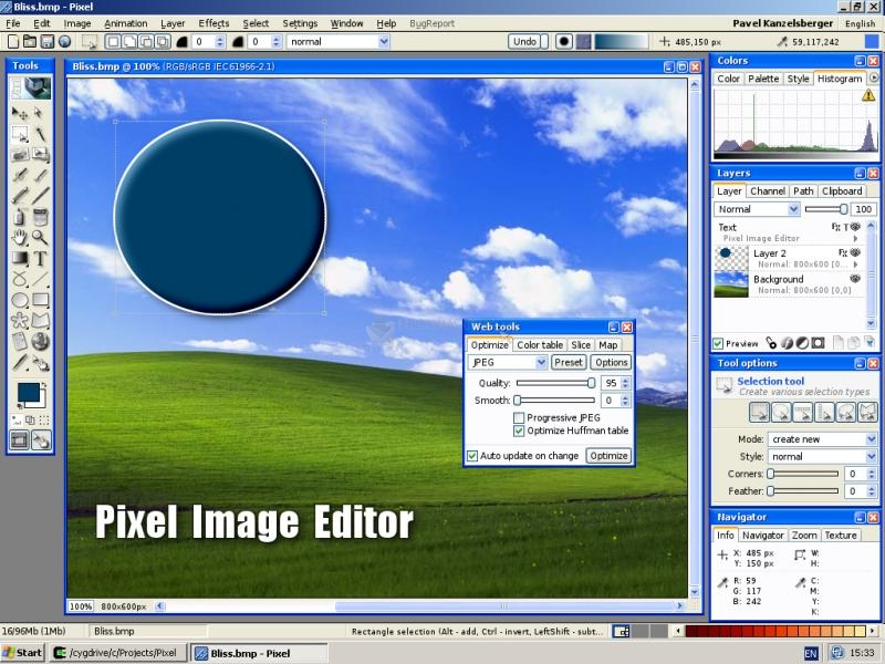 Pantallazo Pixel Image Editor
