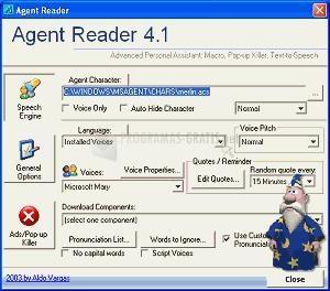 Pantallazo Agent Reader