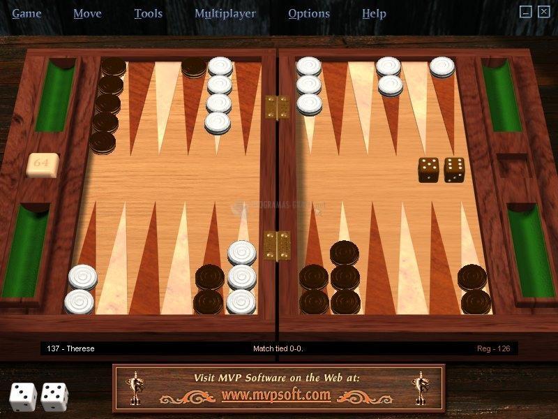 Pantallazo MVP Backgammon Pro