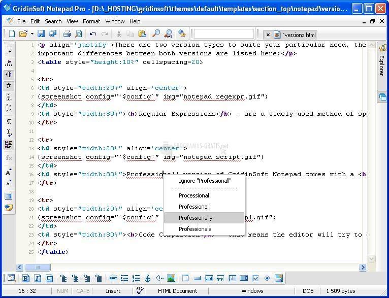 Pantallazo GridinSoft Notepad