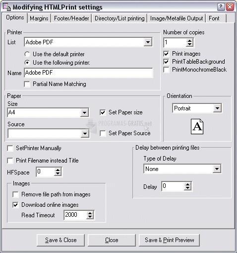 Pantallazo HTMLPrint
