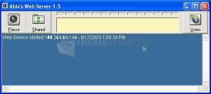Pantallazo Aldo Web Server