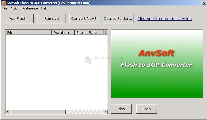 Pantallazo Flash to 3GP Converter