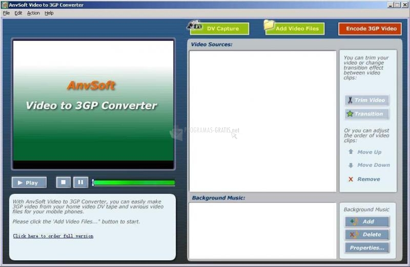 Pantallazo Video to 3GP Converter