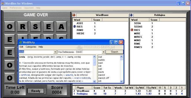 Pantallazo WordBox para Windows