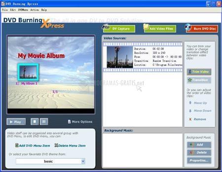 Pantallazo AnvSoft DVD Burning Xpress