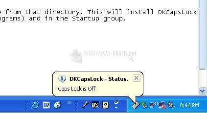 Pantallazo DKCapsLock-Status