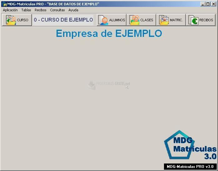 Pantallazo MDG-Matrículas