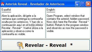 Pantallazo Revelador de Asteriscos