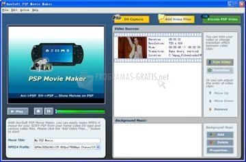 Pantallazo PSP Movie Maker
