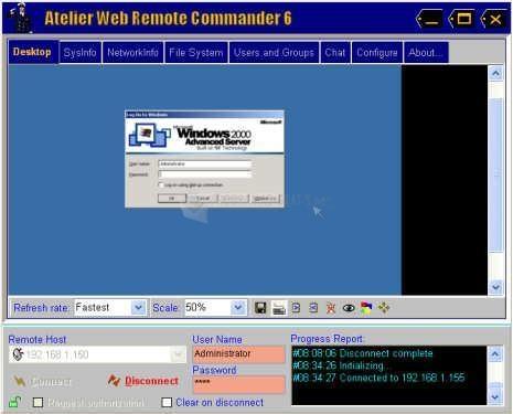 Pantallazo Atelier Web Remote Commander