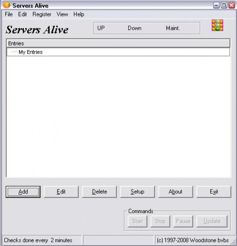 Pantallazo Servers Alive