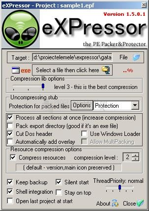 Pantallazo eXPressor