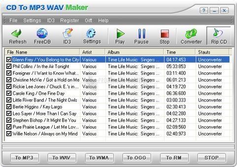 Pantallazo CD To MP3 WAV Maker
