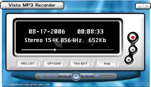 Pantallazo Vista MP3 Recorder