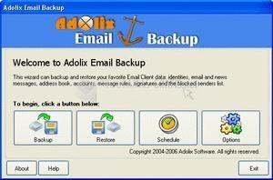 Pantallazo Adolix Email Backup