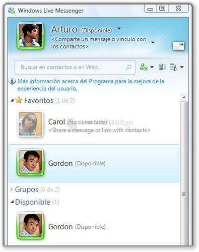 Captura Windows Live Messenger (English)