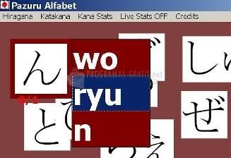 Pantallazo Pazuru Alfabet