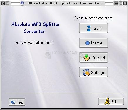 Pantallazo Absolute MP3 Splitter Converter