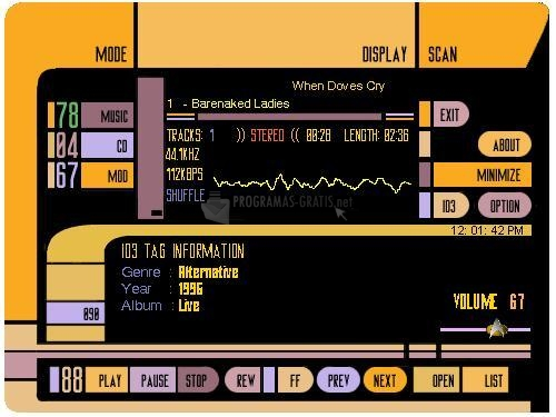 Pantallazo Star Trek MP3 Player
