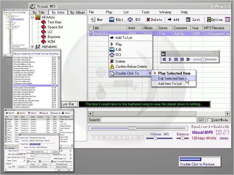 Pantallazo Visual MP3
