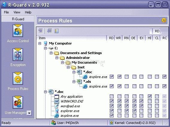 Pantallazo R-Guard Data Security