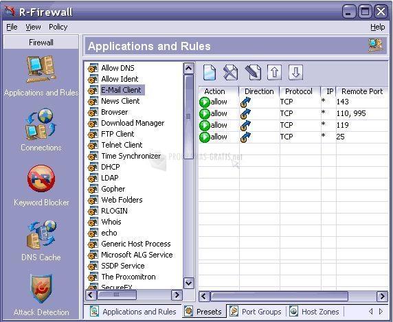Pantallazo R-Firewall