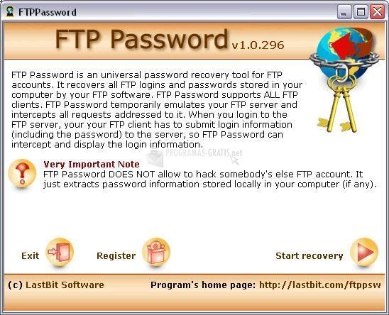 Pantallazo FTP Password