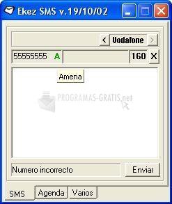 Pantallazo Ekez SMS