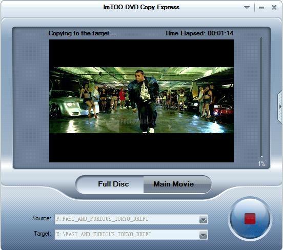 Pantallazo ImTOO DVD Copy Express