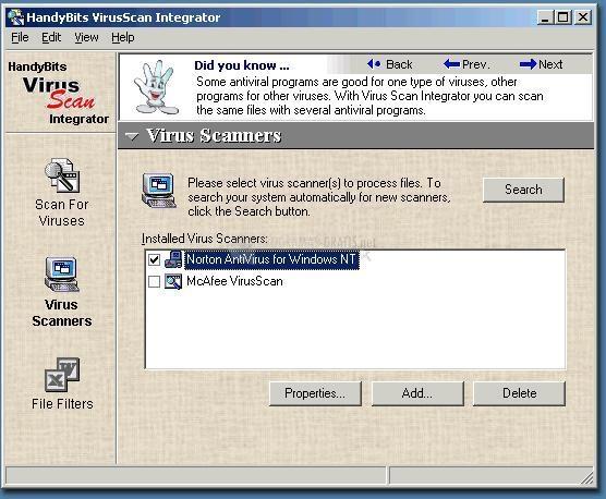 Pantallazo VirusScan Integrator