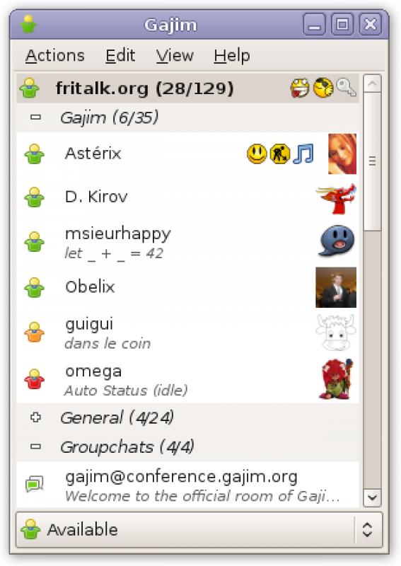 Screenshot Gajim