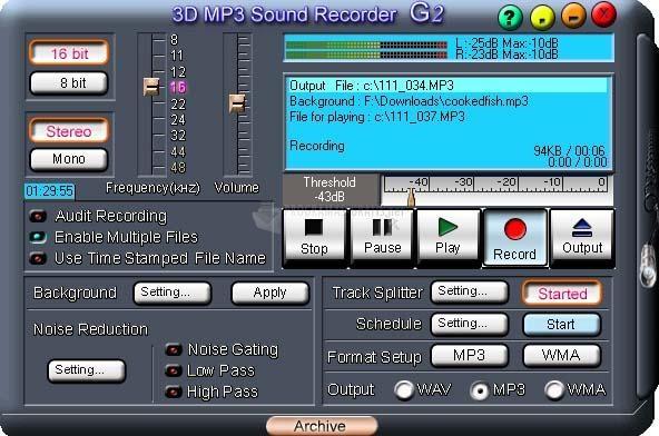 Pantallazo 3D MP3 Sound Recorder