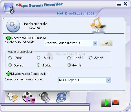 Pantallazo oRipa Screen Recorder