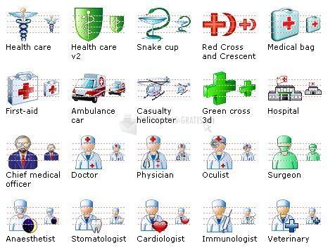 Pantallazo Medical Icon Set